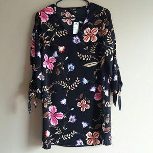 Express floral black dress